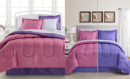 Lydia 8-Pc. Bedding Ensembles, Reversible