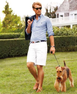 Polo Ralph Lauren Custom-Fit Dress Shirt \u0026amp; Classic-Fit Chino Shorts