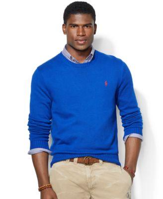 Polo Ralph Lauren Sweater, Crew Neck Cotton Pullover