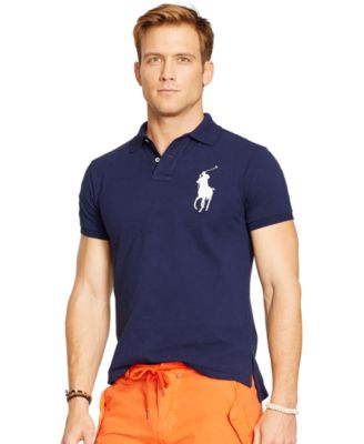 Polo Ralph Lauren Men\u0026#39;s Custom-Fit Big Pony Mesh Polo Shirt
