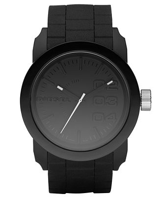 Diesel Watch, Black Silicone Strap 44mm DZ1437