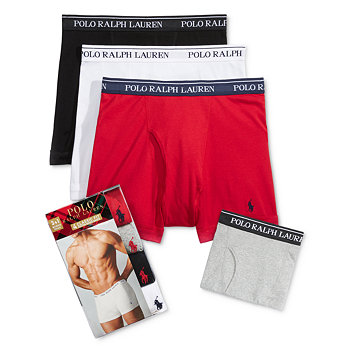 4-Pk. Ralph Lauren Polo Mens Holiday Boxer Briefs