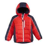 Daron Fashions Inc Zip-Up Colorblocked Hooded Puffer Boys Jacket (Multiple Colors)