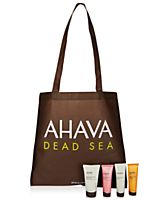 Receive a free 4-piece bonus gift with your $40 Ahava purchase