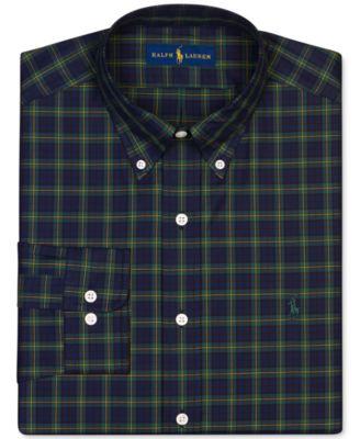 Polo Ralph Lauren Hunter Green Plaid Dress Shirt