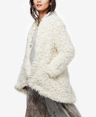 Asymmetrical Faux-Fur Coat