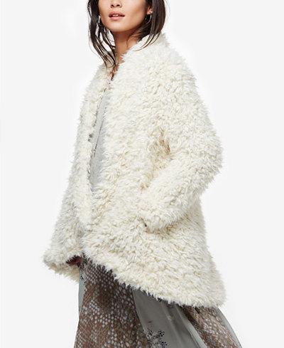 Asymmetrical Faux-Fur Coat