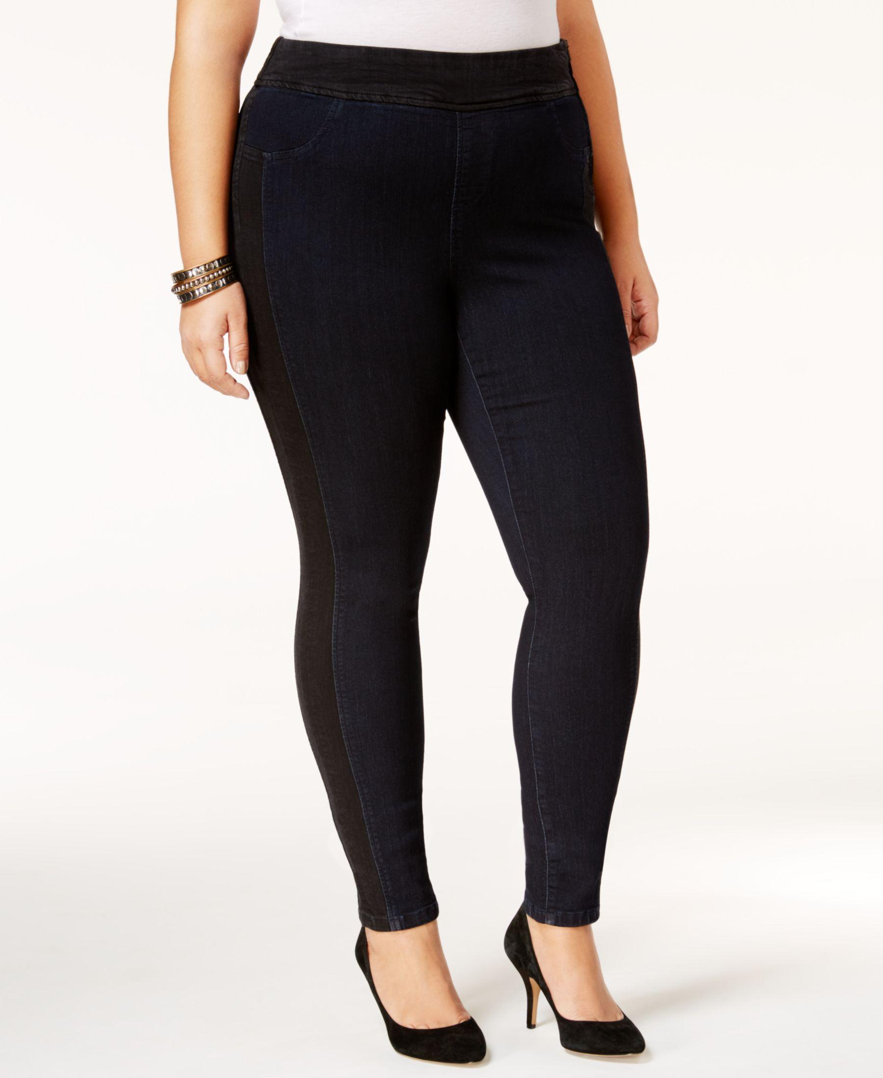 Poetic Justice Trendy Plus Size Dark Blue Wash Skinny Jeans ...
