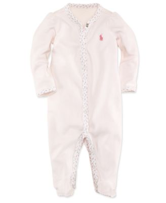 Ralph Lauren Baby Coverall, Baby Girls Interlock Stretch Coverall