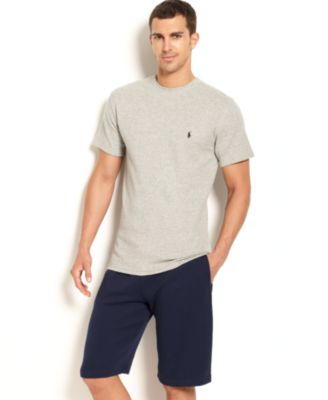 Polo Ralph Lauren Men\u0026#39;s Loungewear, Short Sleeve Thermal Top and Shorts - Pajamas, Lounge \u0026amp; Sleepwear - Men - Macy\u0026#39;s