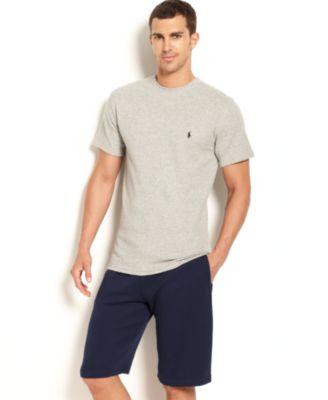 Polo Ralph Lauren Men\u0026#39;s Loungewear, Short Sleeve Thermal Top and Shorts - Pajamas, Lounge \u0026amp; Sleepwear - Men - Macy\u0026#39;s