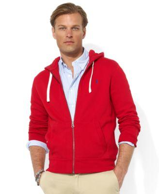 Polo Ralph Lauren Men\u0026#39;s Hoodie, Core Full Zip Hooded Fleece