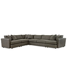 clinton fabric 5 piece sectional with apartment sofa apartment scale furniture