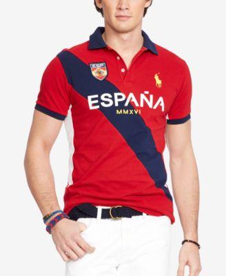 Polo Ralph Lauren Men\u0026#39;s Spain Custom-Fit Polo Shirt