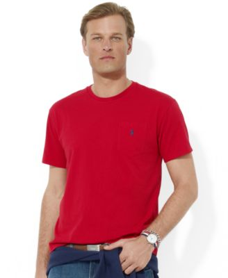 Polo Ralph Lauren Men\u0026#39;s T-Shirt, Core Standard Fit Polo Pocket Tee Shirt