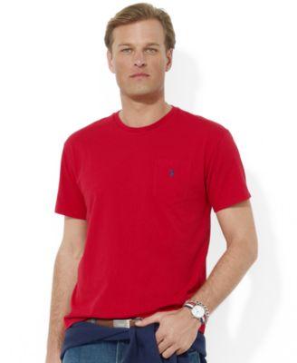 Polo Ralph Lauren Men\u0026#39;s T-Shirt, Core Standard Fit Polo Pocket Tee Shirt