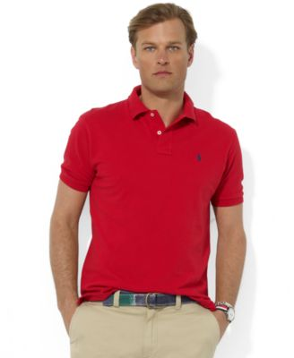 Polo Ralph Lauren Men\u0026#39;s Polo, Core Solid Classic Fit Mesh Polo