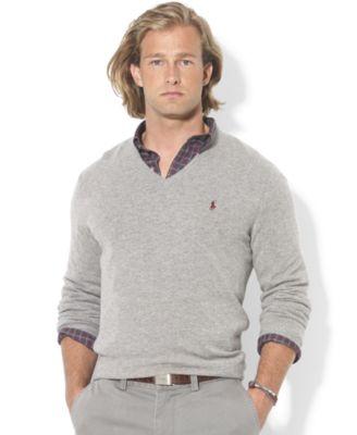 Polo Ralph Lauren Sweater, V-Neck Merino Wool Sweater