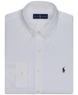 Polo Ralph Lauren Men\u0026#39;s Pinpoint Oxford Solid Dress Shirt