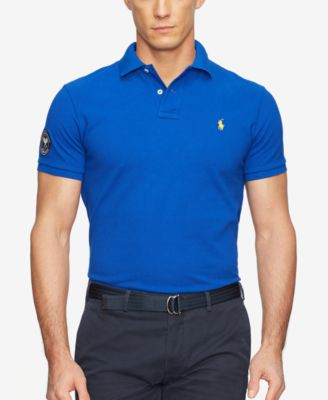 Polo Ralph Lauren Men\u0026#39;s Wimbledon Custom-Fit Mesh Polo