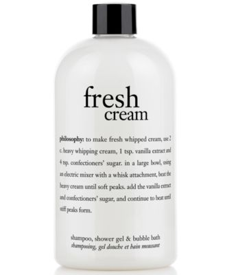 philosophy fresh cream shower gel, 16 oz