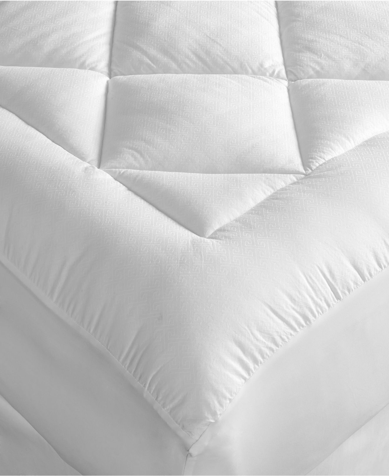 Hotel collection finest mattress pads, hypoallergenic fiber fill ...