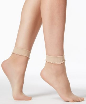 Black Cat Opaque & Sheer Anklet - Sock Dreams | Sock Dreams