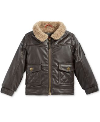 Boys Leather Bomber Jacket Clearance ka9Zks