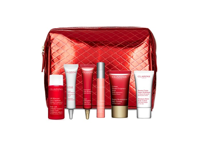 Receive a free 7-piece bonus gift with your $75 Clarins purchase