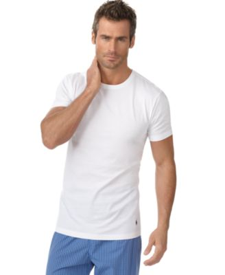 Polo Ralph Lauren Men\u0026#39;s Underwear, Slim Fit Classic Cotton Crews 3 Pack