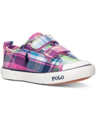 Polo Ralph Lauren Toddler Girls\u0026#39; Carlisle II EZ Casual Sneakers from Finish Line