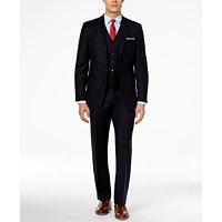 Ralph Lauren Navy Vested Solid Slim-Fit Suit