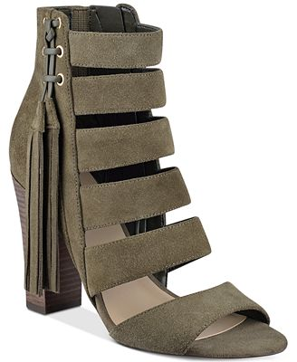 GUESS Women's Blasa Suede Block-Heel Sandals