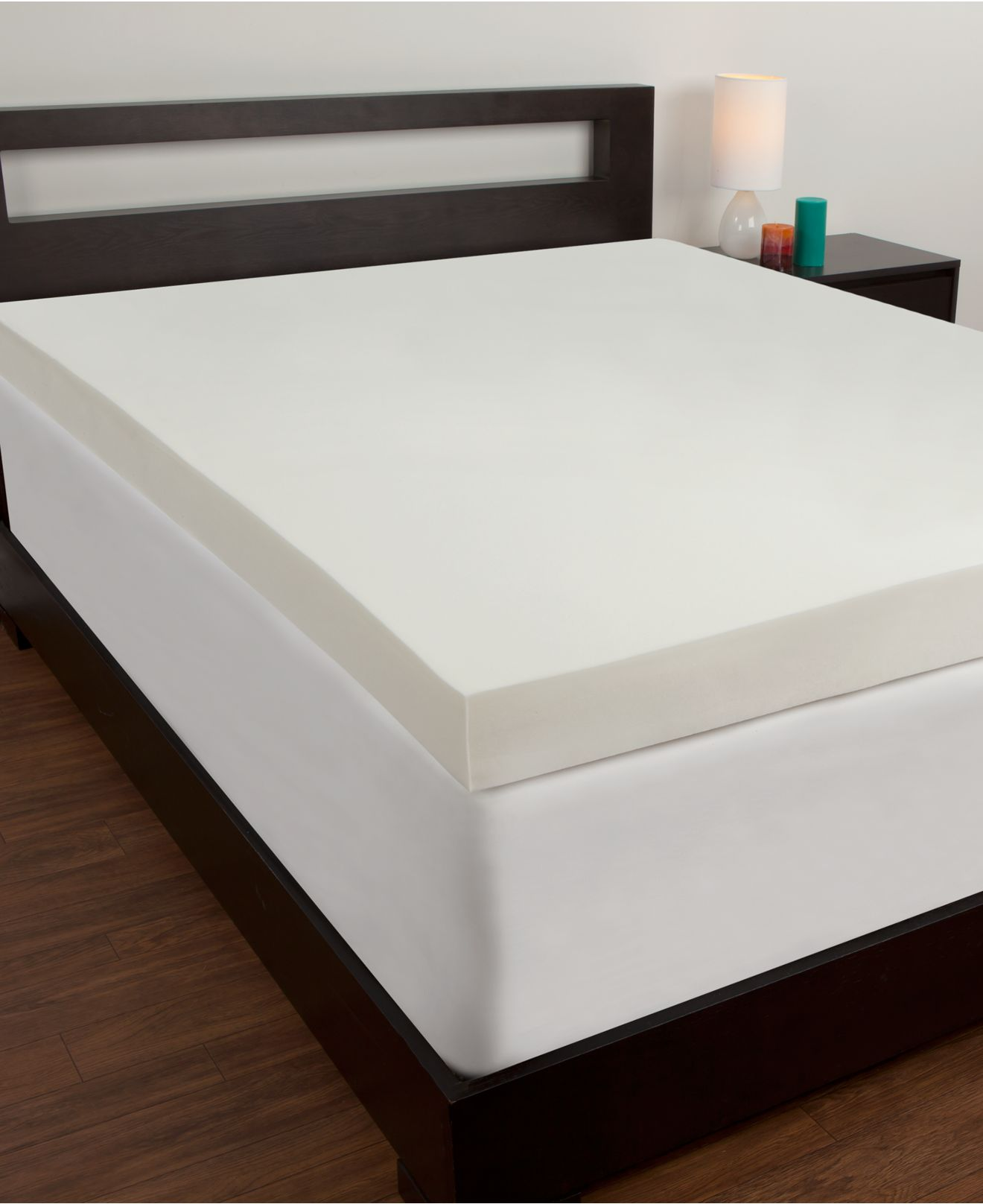 Comfort revolution 4'' memory foam mattress toppers   mattress ...