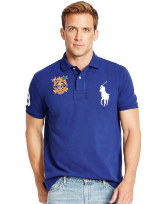 Polo Ralph Lauren Nautical-Crest Mesh Polo Shirt