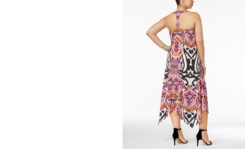 INC International Concepts Plus Size Racerback Dress, Only at ...