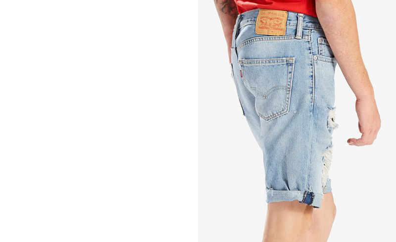 Main Picture. Levi's® Men's 511 Slim-Fit Cutoff Ripped Jean Shorts - Levi's® Men's 511 Slim-Fit Cutoff Ripped Jean Shorts - Shorts