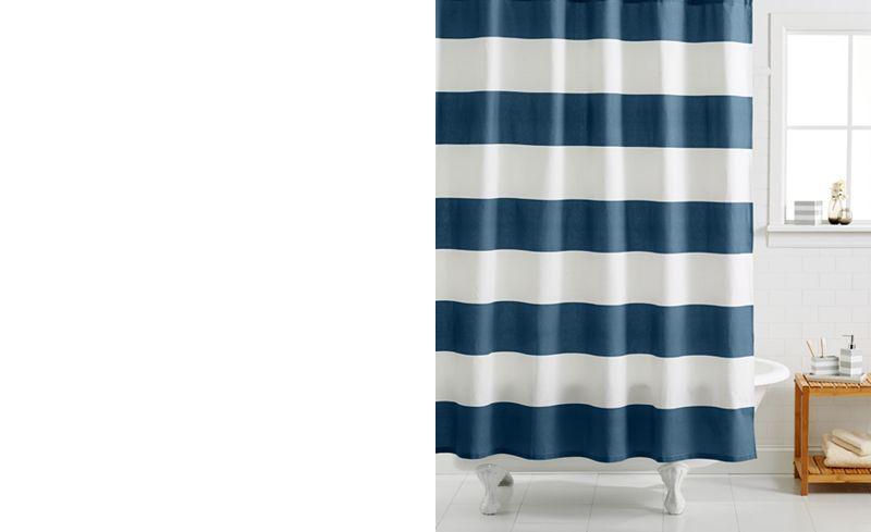 Main Picture Kassatex Hampton Striped Shower Curtain