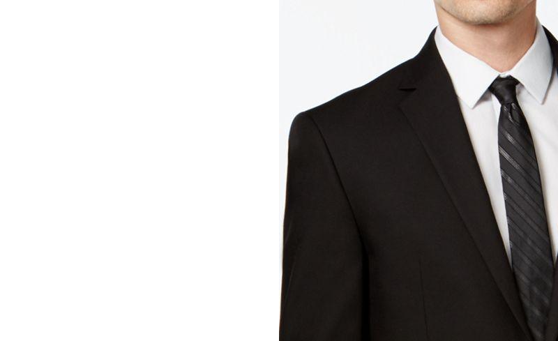 Kenneth Cole Reaction Black Slim-Fit Suit - Suits & Suit Separates ...