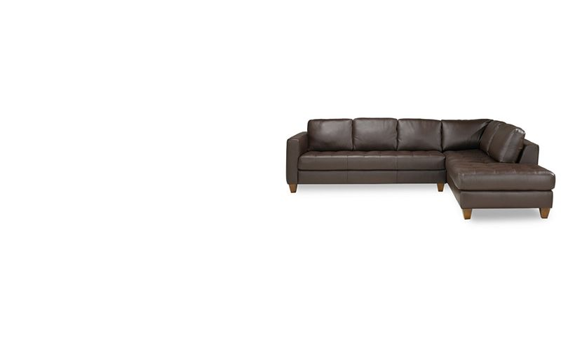 Milano Leather Piece Chaise Sectional Sofa Furniture Macy S