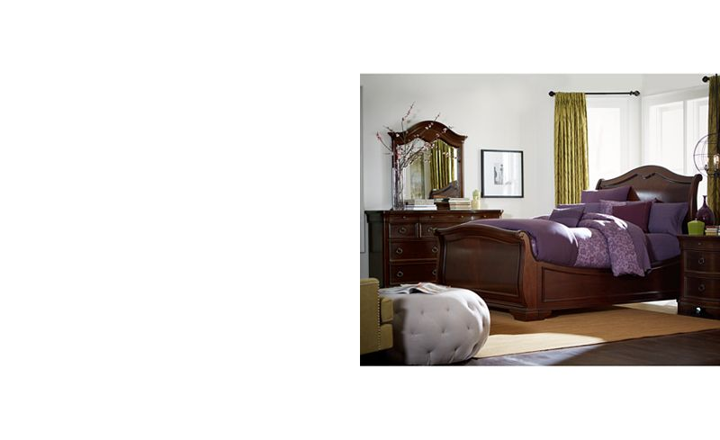 main picture bordeaux ii queen bed - Bordeaux Louis Philippe Style Bedroom Furniture Collection