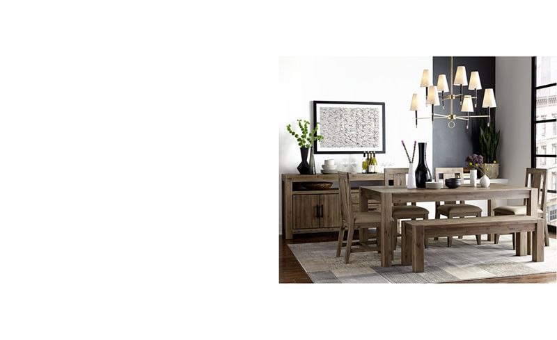 canyon dining table only at macys furniture macys - Kitchen Table Sizes