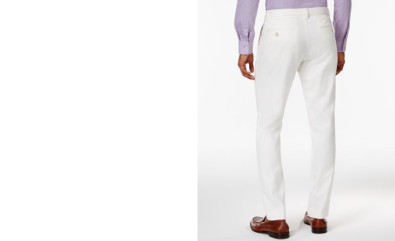 Sean John Men's Big & Tall Belted Patchwork Linen Pants - Pants ...