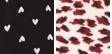 Black Mini Hearts