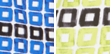 Blue Bicolor Squares