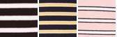 Tie Stripe- Black/english Rose