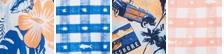 Vivid Blue Katuna Vibes Print