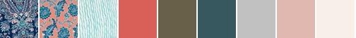 Mar Watercolor Damask Navy