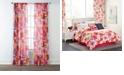 Izalia Sara B Santa Monica Printed Sheer Curtain Panel Set, 95 in