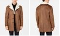 Tallia Men's Slim-Fit Brown Faux Suede Overcoat